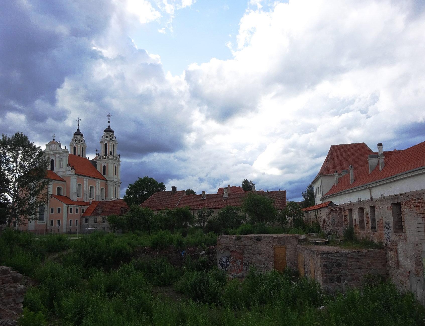 The sky above the church