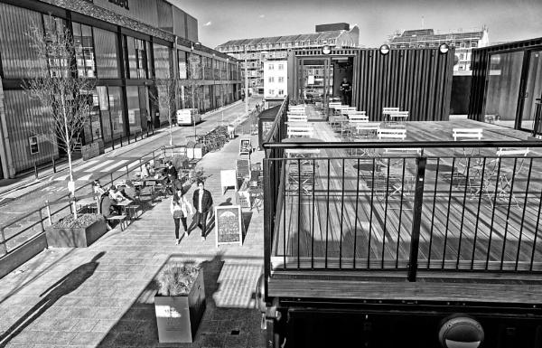 \'Cargo\' food outlets, Bristol Docks by starckimages