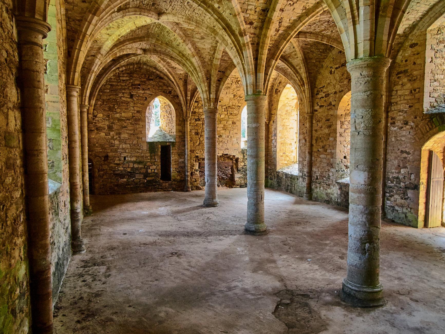 Undercroft at Battle Abbey