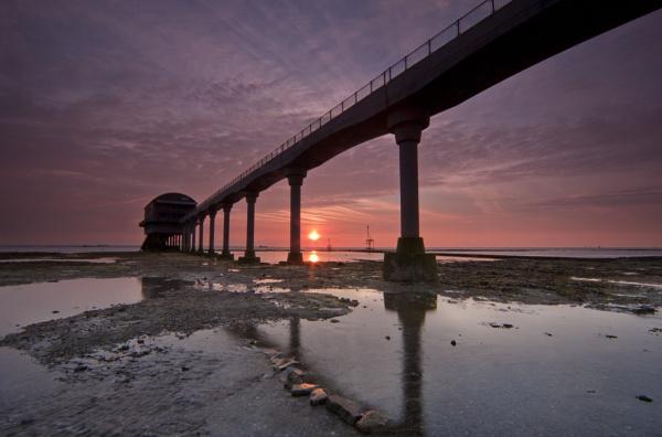 Bembridge sunrise by pink