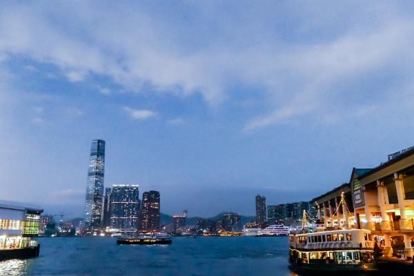 Ferry scene, Hong Kong by manicam