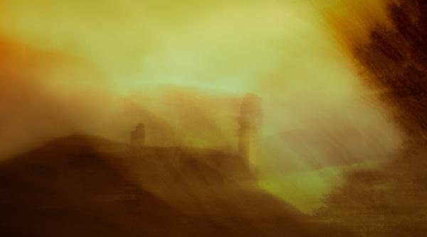 Harbottle Castle by flowerpower59