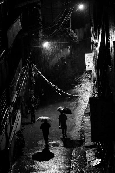 Rainy Urban Night by Sandipan