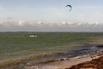 Kite surfing at Fort Victoria