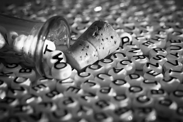 Letters popped cork by JackAllTog