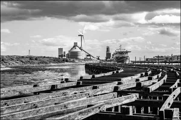 Battleship Wharfe Port of Blyth Northumberland by icphoto