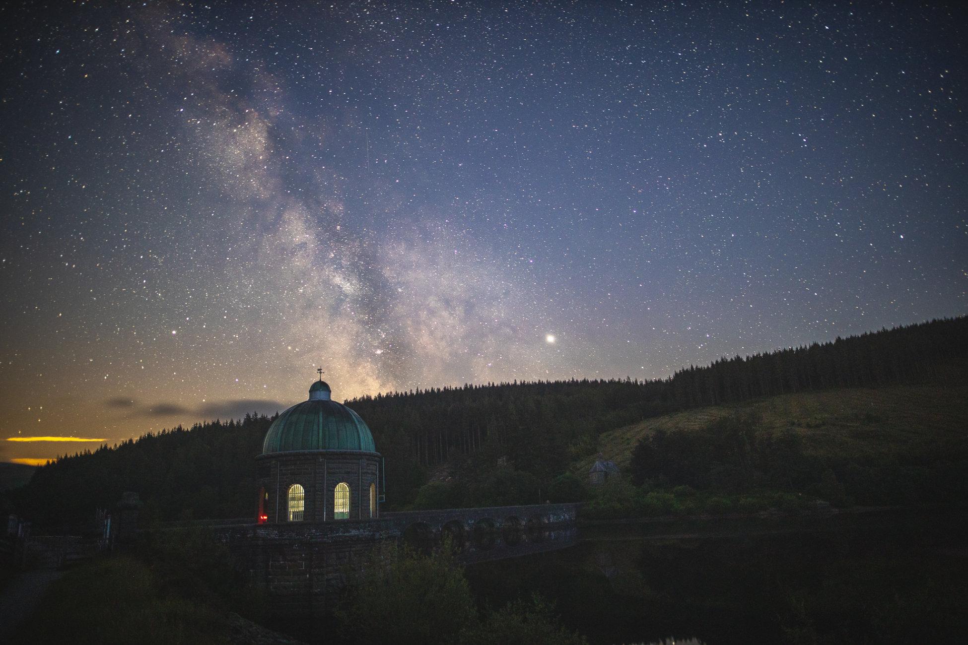 Elan Valley at night