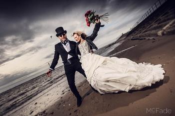 Drunken beach wedding