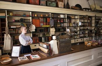 1880 era Canadian Pioneer General store