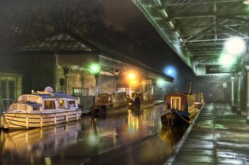 Night Time at Hebden Bridge Station