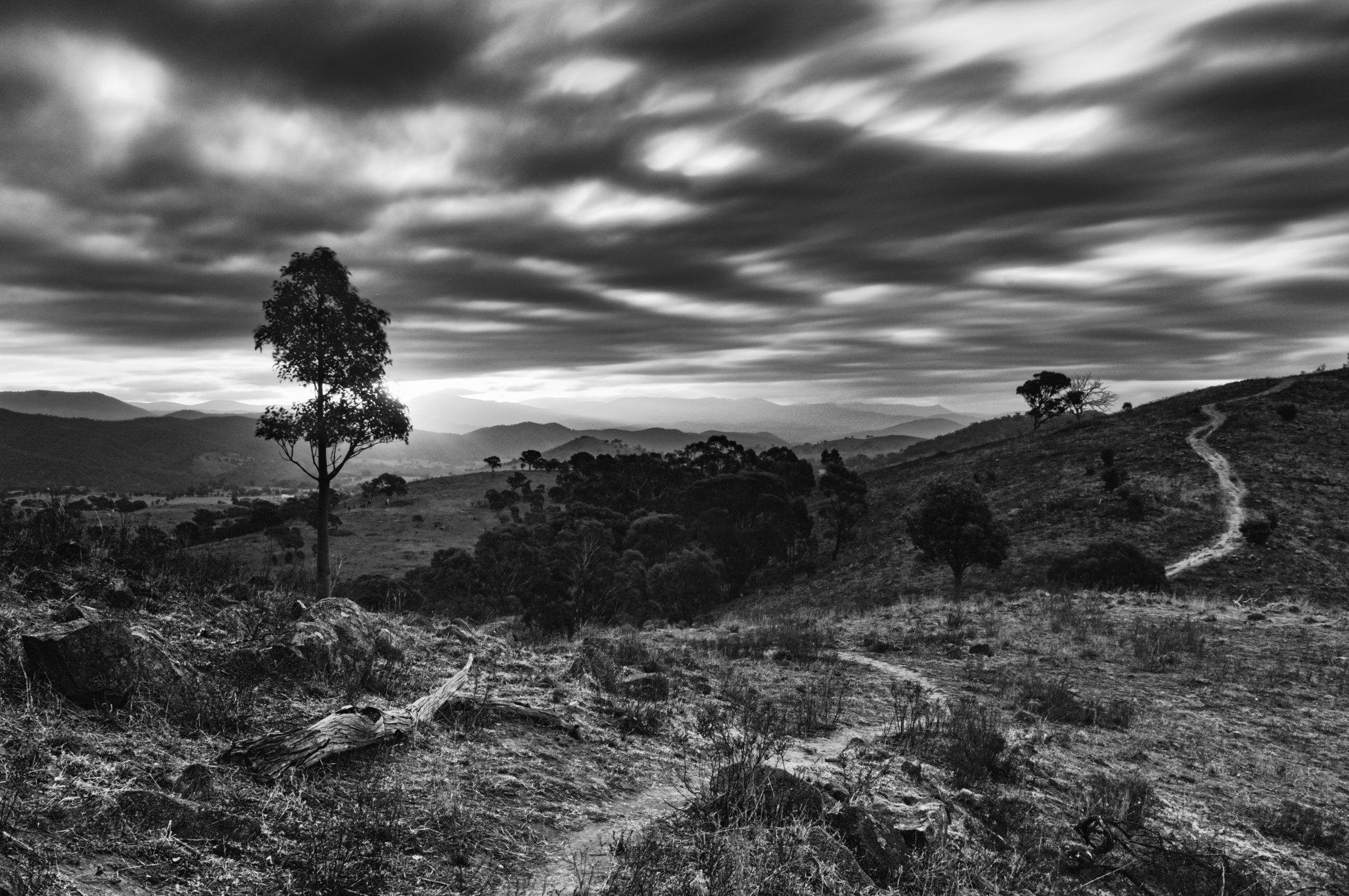 Sombre Sunset, Urambi Hills, Canberra