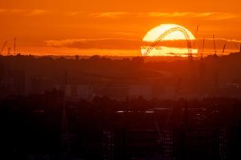 Sunset over Wembley
