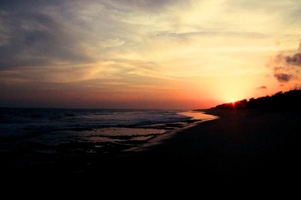 Sun set near Nagercoil. by ranjit1945