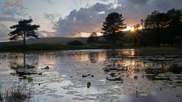 Lake District Tarn at sunset 1 by PhotoLinda