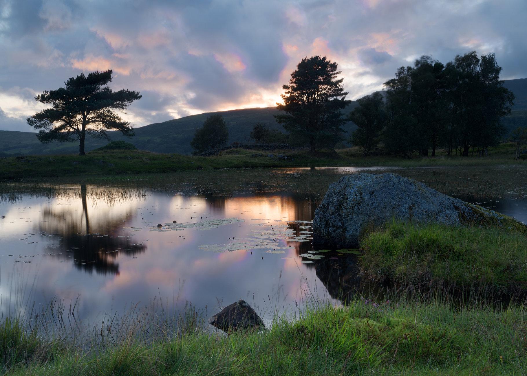 Lake District Tarn at sunset 2