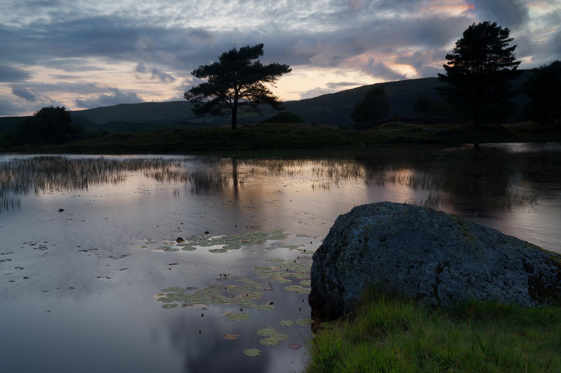 Lake District Tarn at sunset 3