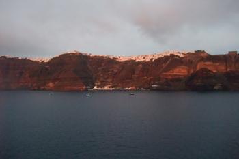 Fira by sunset, Santorini.