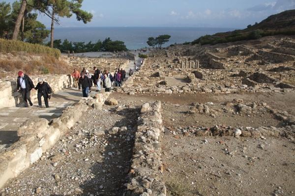 Climbing to the Kamiros Acropolis, Rhodes. by MentorRon