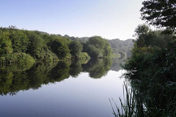 River Reflection by rickhanson