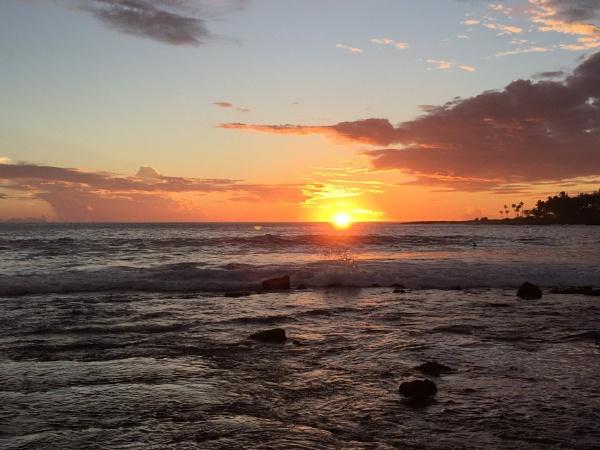 The Setting Sun of Kona, Hawaii by Ninjacam