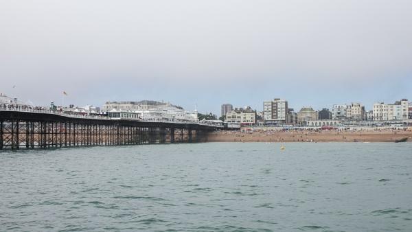 Brighton pier & beach by goochian3