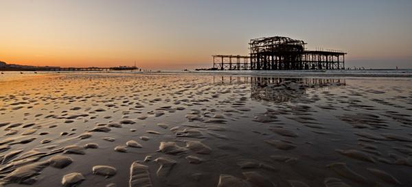 West Pier - sunrise by alfpics