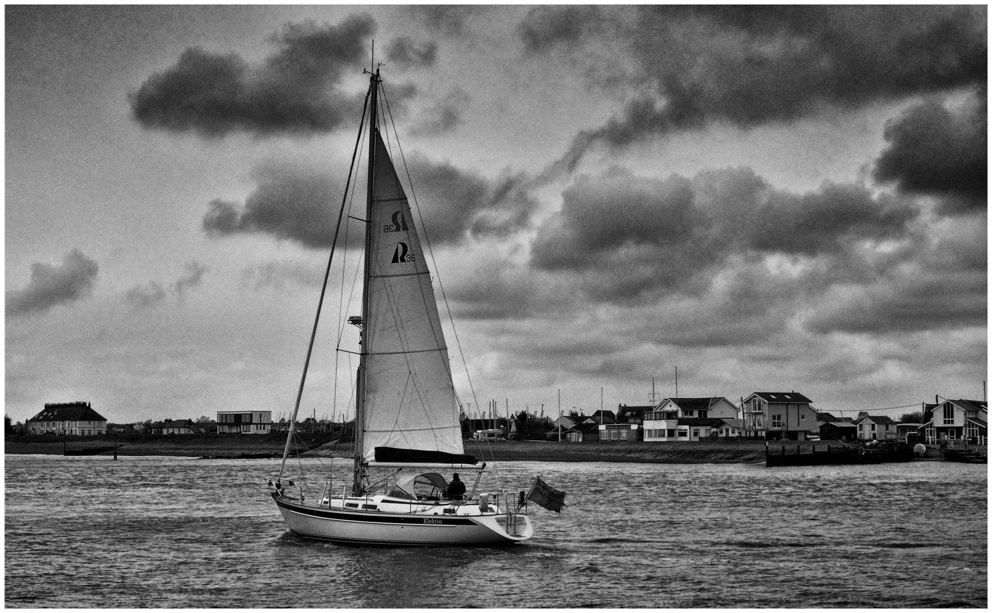 Sailing at Bawdsey