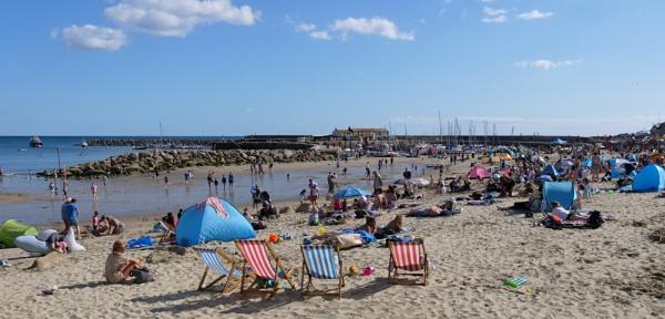 Lyme Regis Beach - 1st September 2019 by starckimages
