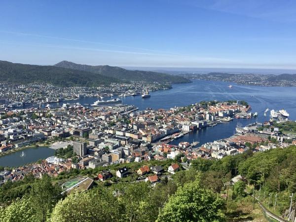 \'City Of Seven Mountains\' Bergen, Norway. by Debmercury