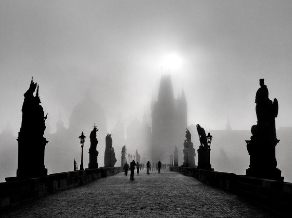 Charles Bridge in Black and White - Prague, Czech Republic (24.09.2011) by Yuri_Novitsky