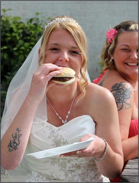 Bride, Burger and Bap. by lifesnapper