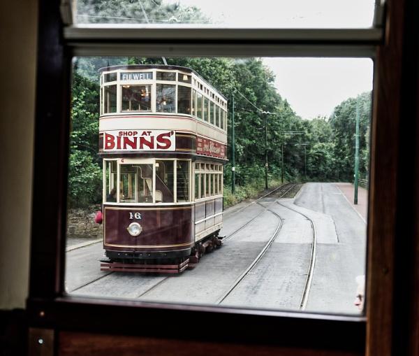 Tram from a tram by Gordonsimpson