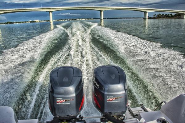 Cruising across Sarasota Bay by jbsaladino