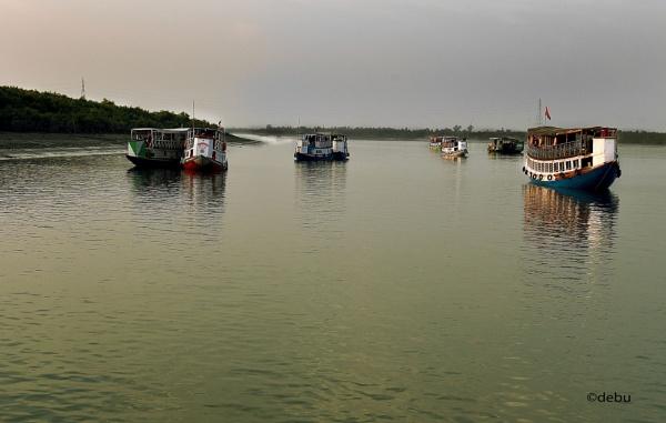 Resting boats by debu