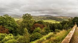 Lakeland Fells from Muncaster Castle