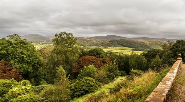 Lakeland Fells from Muncaster Castle by Irishkate