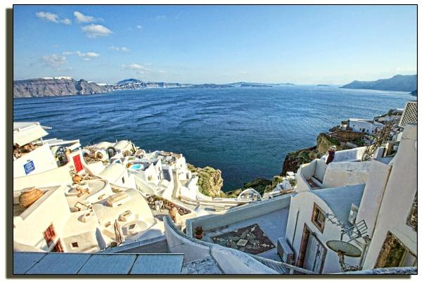 The caldera of Santorini by PatriciaWilson