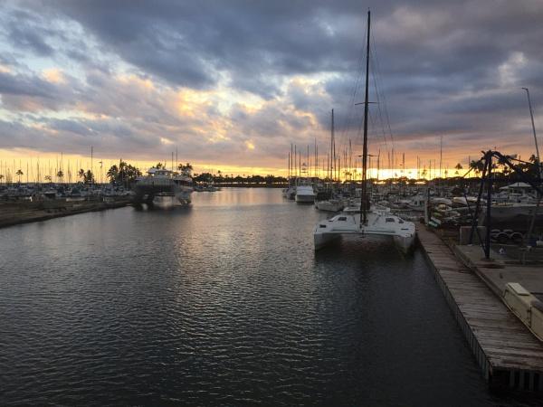 Ala Wai Boat Harbor at Sunset by Ninjacam