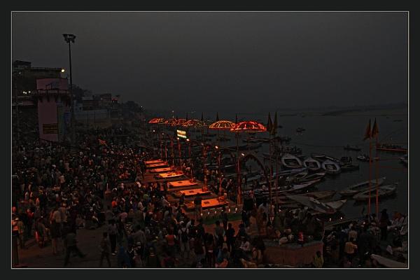 Evening at Benaras by prabhusinha