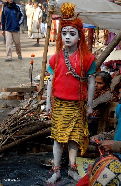 Street performer depicting lord Shiva by debu