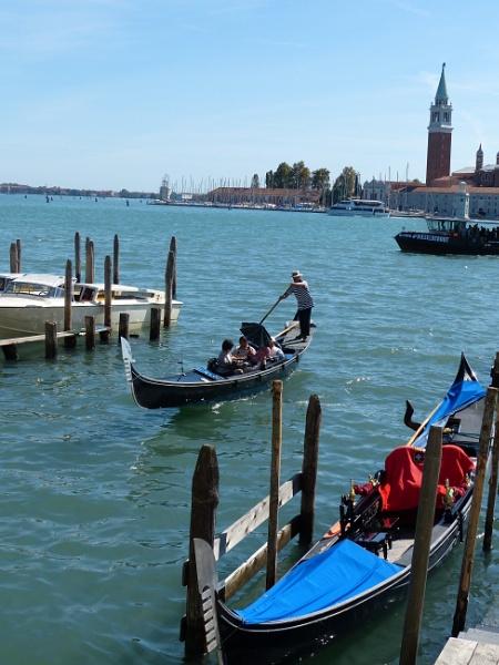 Gondolas In Venice. by Debmercury
