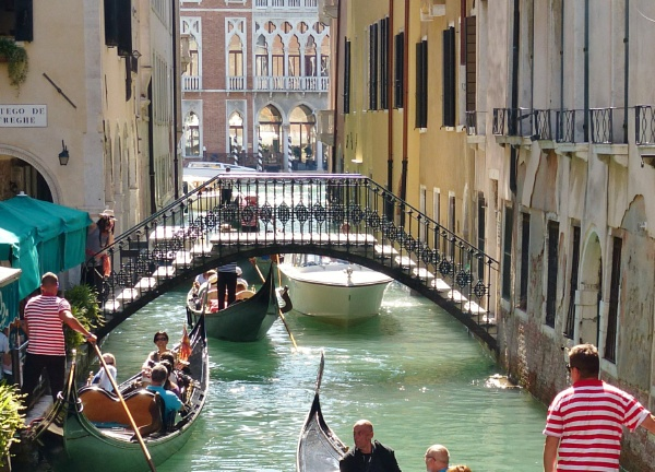 Gondolas In Venice 3. by Debmercury