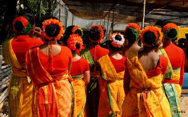 Hair Style in Holi Dance Festival by debu