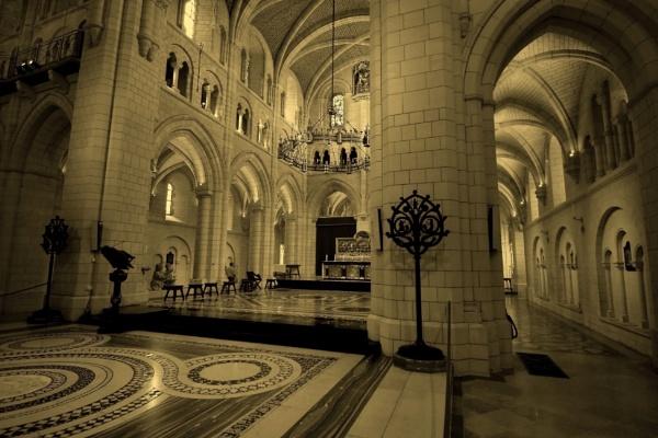 Inside   Buckfast  abbey by oldham