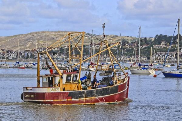 Conwy Fishing boat by pks