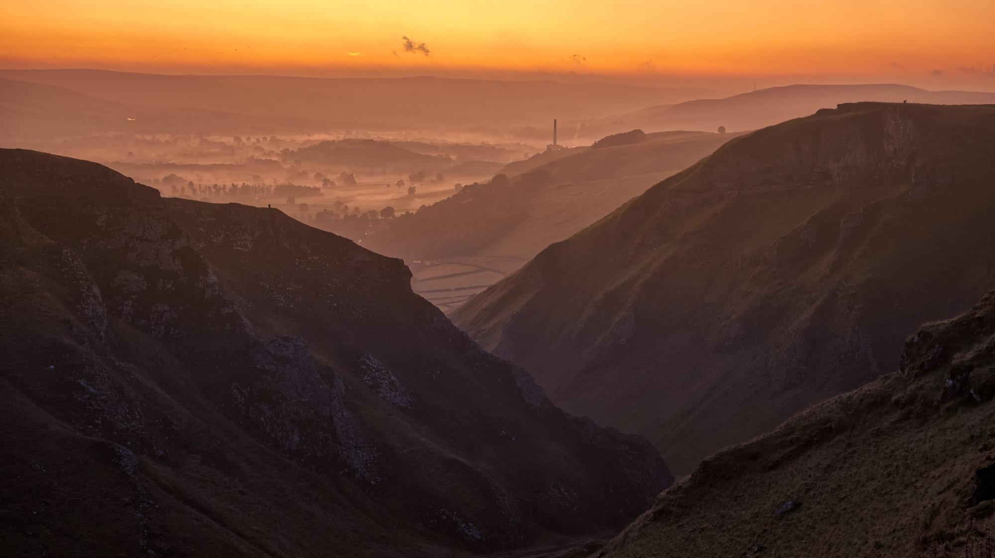 Hope valley from winnats pass