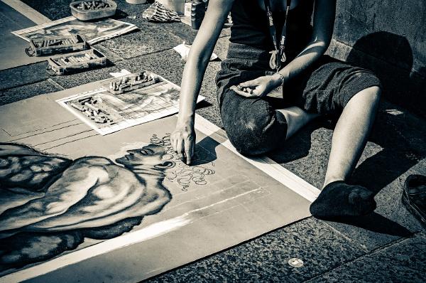 Street Artist by AllistairK
