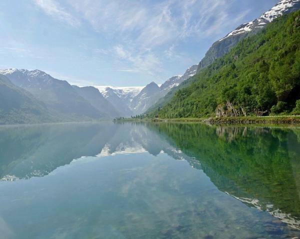 Fjords, Olden Norway. by Debmercury