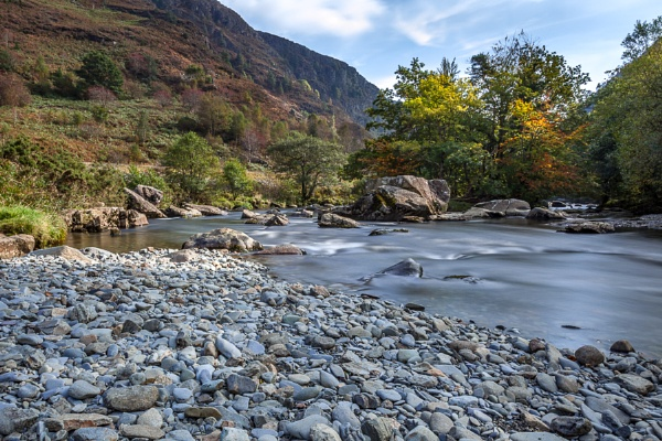 View along the Glaslyn River in Autumn by Phil_Bird