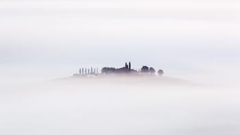 Hill in the mist...